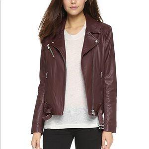 Like New IRO Jone leather jacket, Burgundy, 36